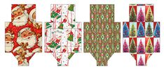 Retro printable Christmas boxes and tags | How About Orange