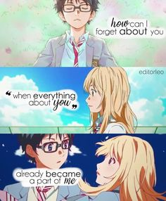 Anime : Your Lie In April Anime Quotes Shigatsu Wa kimi no Uso