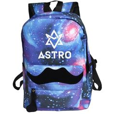 Amazon.com: Fanstown Kpop Backpack Starry Sky beard Messenger bag EXO... ($20) ❤ liked on Polyvore featuring bags, blue messenger bag, star bag, backpack bags, star backpack and messenger bags