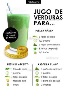 p/jugos-de-verduras-pierde-grasaabdomen-planoreduce-apetito-habitos-health-coaching delivers online tools that help you to stay in control of your personal information and protect your online privacy. Week Detox Diet, Detox Diet Drinks, Detox Diet Plan, Cleanse Diet, Detox Tips, Detox Recipes, Healthy Juices, Healthy Drinks, Healthy Shakes
