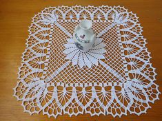 Square white crochet tablecloth (see below for measurements). Its a great addition to your home, office, decoration for different events. Have fun with displaying it on different special occasions and/or surprising your loved ones! You could use it for a variety of other ideas. Hope