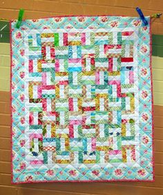 My Modern Scrappy Rail Fence Quilt | by arianescrafts