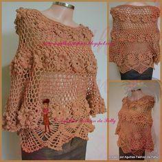 Blusa Fleur - crochet