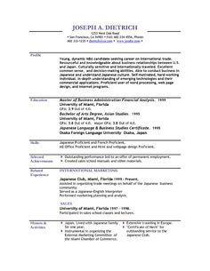 Usable Resume Templates 10 Best Sample Resume Templates Images On Pinterest  Gym Career .