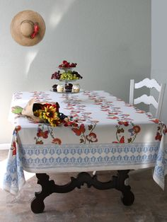 Chasing Butterflies ~ French Country Butterfly Print Tablecloth Details