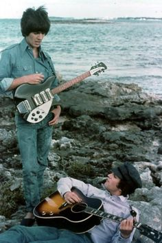 George Harrison and John Lennon (The Beatles in Help!) (Source- https://www.facebook.com/pages/John-Lennon-U-R-Wonderful-and-I-Love-You/117953921593879?fref=ts)