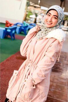 f59aa31547 SHEIN Pink Fleece Lined Pocket Front Drawstring Parka Coat Parka Coat,  Christmas Fashion, Coats