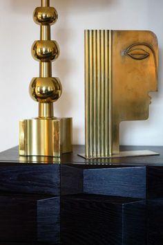 Fab brass lamp! Need to know more..! | image via @Jess Liu {The Aestate} #vintage #lighting #design