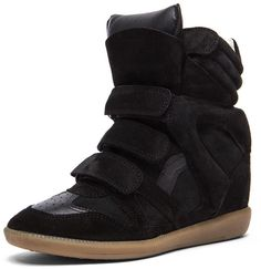 Isabel Marant Bekett Sneaker in Faded Black $695.00