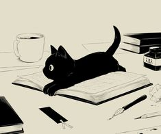 38 Ideas for illustration art anime animal prints Art And Illustration, Cat Illustrations, Arte Inspo, Crazy Cats, Animal Drawings, Cat Art, Cats And Kittens, Kitty Cats, Cute Cats