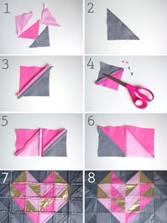 DIY Geometric Heart Pillow - Honest To Nod
