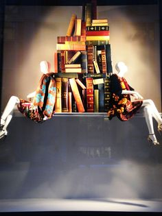 Book lovers unite! While it's not #FridayReads, Fifth Avenue celebrates its favorite tomes with a special exhibition of vintage books. Featuring hundreds of books hand-selected from the Seventh Floor's The Cary Collection (212 872 2570), our latest windows installation is enough to encourage one to curl up with their own favorite tome. Including Spring 2014 looks from Prada, Celine, Mary Katrantzou, Lanvin, Fendi and Dior, these vibrant windows are just the colorful lift we need on a gray…