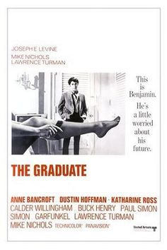 Directed by Mike Nichols. With Dustin Hoffman, Anne Bancroft, Katharine Ross, William Daniels. A disillusioned college graduate finds himself torn between his older lover and her daughter. Iconic Movie Posters, Iconic Movies, Old Movies, Vintage Movies, Great Movies, Famous Movies, Film Posters, Cinema Posters, Retro Vintage