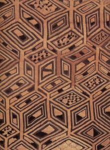 Beautiful Kuba cloth - by whom, where and when I do not know.