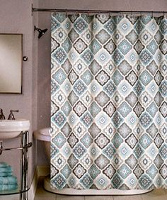 Peri Fabric Shower Curtain Gray, Blue TIles -- Lilian Tile Peri Home http://smile.amazon.com/dp/B00MD0MY4K/ref=cm_sw_r_pi_dp_wEp6vb12S00EJ