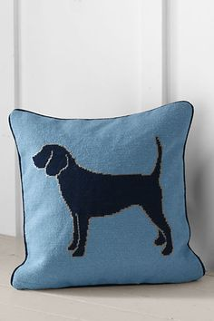 Lands' End Needlepoint Dog Decorative Pillow Cover or Insert (2% donation)