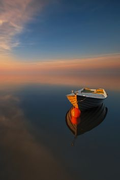 Sunsets: Breathtaking Nature The Boat…by Pawel Kucharski via Tumblr