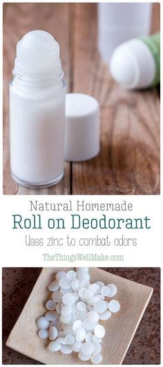 Ditch using deodorants filled with toxic ingredients, and make your own natural, homemade roll on deodorant that is easy to use and glides on smoothly. This recipe uses zinc to naturally combat odors without staining your clothes. #homemade #deodorant #natural #DIY via @thethingswellmake