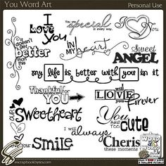 You Word Art :: Word Art/Quotes :: Embellishments :: SCRAPBOOK-BYTES