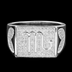 NEW FASHION ROUND CUBIC ZIRCONIA MICRO PAVE SET STERLING 925 SILVER UNISEX RING, #Handmade #Ring