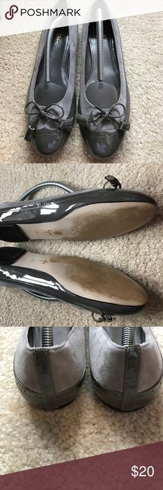 Cole Haan Oxford flats Classic and comfy suede and patent oxford flats. A few scratches on the patent leather but otherwise in good condition. Cole Haan Shoes Flats & Loafers