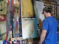 Irrational Response By Gino Savarino Abstract Painting Techniques, Acrylic Painting Lessons, Painting Videos, Art Techniques, Tole Painting, Tempera, Learn Art, Art Tutorials, Acrylics