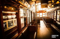 Photo canvas art of a vintage Toronto TTC streetcar