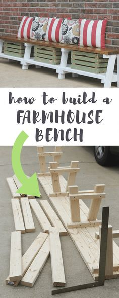 DIY Farmhouse Bench Tutorial With Storage Build this farmhouse bench with storage in 10 simple steps.Build this farmhouse bench with storage in 10 simple steps. Furniture Projects, Home Projects, Bedroom Furniture, Ikea Furniture, White Furniture, Modern Furniture, Repurposed Furniture, Furniture Stores, Furniture Plans