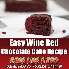 Easy Wine Red Chocolate Cake Recipe Full Recipe on my BakeLikeAPro YouTube channel ★►CLICK the large picture 2 go to my video recipe Red Chocolate, Chocolate Cakes, Chocolate Coffee, Chocolate Recipes, Baking Recipes, Great Recipes, Cookie Recipes, Cake Cookies, Cupcakes