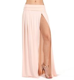 Stone High Slit Maxi Skirt