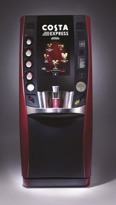 Coffee Machine Self Service Coffee Machine Design, Coffee Bar Design, Vending Machines In Japan, Coffee Vending Machines, Vending Machine Business, Coffee Shop, Coffee Maker, Costa Coffee, Coffee And Cigarettes