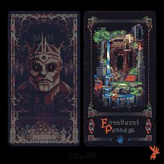 Very Cool pixel art - Bryan Game Inspiration, Game Art, Art Inspo, Fantasy Art, Art, Pixel Art Design, Card Art, Art Tutorials, Cool Pixel Art