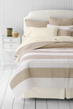 Stripe Quilt or Sham from Lands' End