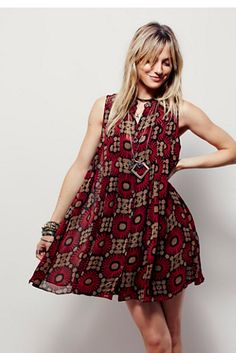 Free People Catch the Sun Printed Dress at Free People Clothing Boutique