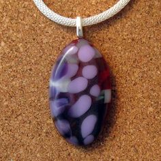 Fused Glass Pendant  Pebble Pendant  Fused Glass by GlassMystique
