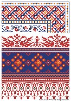 "Vintage scheme for embroidery: Decorations, supplement to the magazine ""Rodina"""