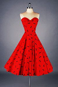 Coffee Lovin' Mom   vintagegal: 1950s Prom and Party Dresses: Red