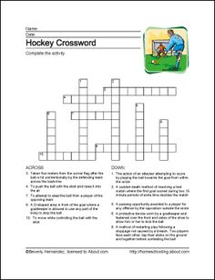 Learn about ice hockey with this free set of hockey printables. The set includes a vocabulary worksheet, word search, and crossword puzzle. Hockey Tournaments, Hockey Games, Hockey Mom, Ice Hockey, Hockey Players, Hockey Birthday Parties, Hockey Party, 5th Birthday, Hockey Crafts