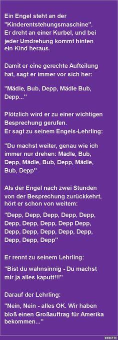 Ein Engel steht an der Kinderentstehungsmaschine | DEBESTE.de, Lustige Bilder, Sprüche, Witze und Videos