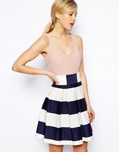 ASOS Stripe Skirt Skater dress