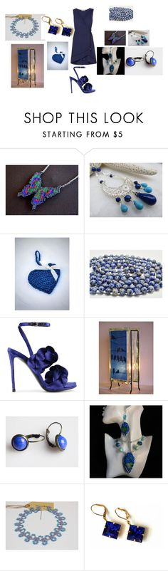 """""""Blue things"""" by mariellascode ❤ liked on Polyvore featuring Lazuli, Marco de Vincenzo, Eurø Style, Heidi Klein and modern"""
