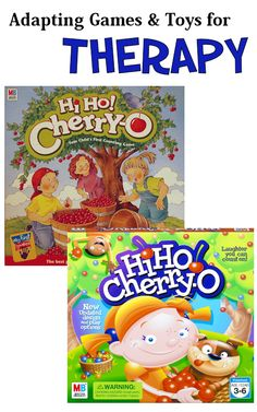 A child's first game, HiHo Cherry-O focuses on color recognition, counting, fine motor precision, taking turns, following directions, and using a spinner.