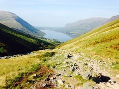 On the way to Scafell Pike in the Lake District.