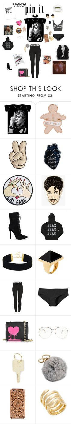 """Being creative with your style while at this Rihanna concert"" by taylortibbs ❤ liked on Polyvore featuring MDKN, Missoni, Anya Hindmarch, Georgia Perry, Kenneth Jay Lane, Calvin Klein, Patagonia, Love Moschino, Aquazzura and The Giving Keys"