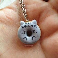 Pusheen Donut Necklace