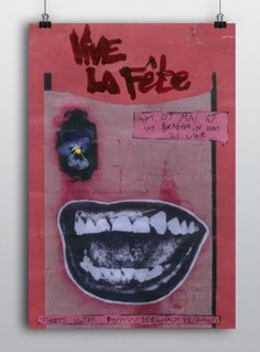 Concert poster series for synthpop, electro dance-punk band Vive la Fête.  See more here: www.mariebrogger.dk