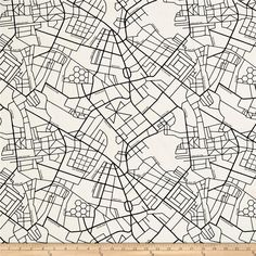 From Art Gallery, this cotton print fabric features a map of a downtown city so you don't get lost before you reach your destination! Perfect for quilting, apparel and home decor accents. Colors include white and black.