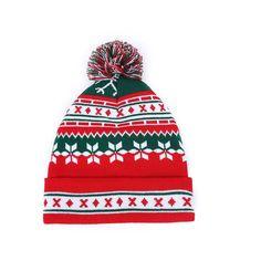 Unisex Hat European Woolen Yarn Knitted Winter Christmas Hat e8c5c40bee04