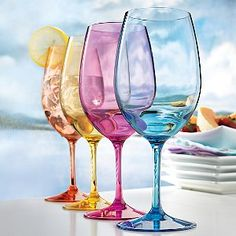Buy the Indoor/Outdoor Mixed Color Wine Glasses (Set of at Wine Enthusiast – we are your ultimate destination for wine storage, wine accessories, gifts and more! Outdoor Drinkware, Colored Wine Glasses, Colored Glass, Wine Glass Set, Wine Storage, Storage Containers, Food Storage, Wine Gifts, Color Mixing