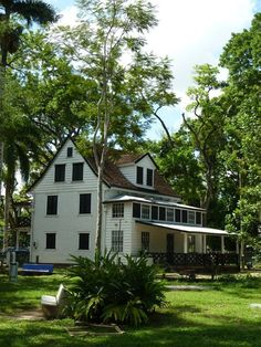Paramaribo is an exceptional example of the gradual fusion of European architecture and construction techniques with indigenous South America materials and crafts to create a new architectural idiom.  Paramaribo is a unique example of the contact between the European culture of the Netherlands and the indigenous cultures and environment of South America in the years of intensive colonization of this region in the 16th and 17th centuries.  Photo by Christopher Rawley